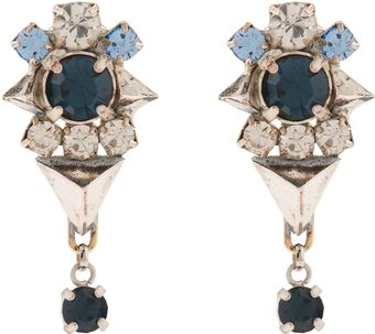 Martine Wester Moonlight Cobalt and Silver Earrings - Lyst