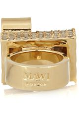 Mawi Goldplated Swarovski Crystal Ring - Lyst