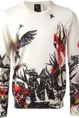 McQ by Alexander McQueen Wildlife Print Sweater - Lyst