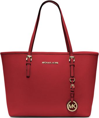 Michael Kors Michael Small Jet Set Saffiano Travel Tote - Lyst