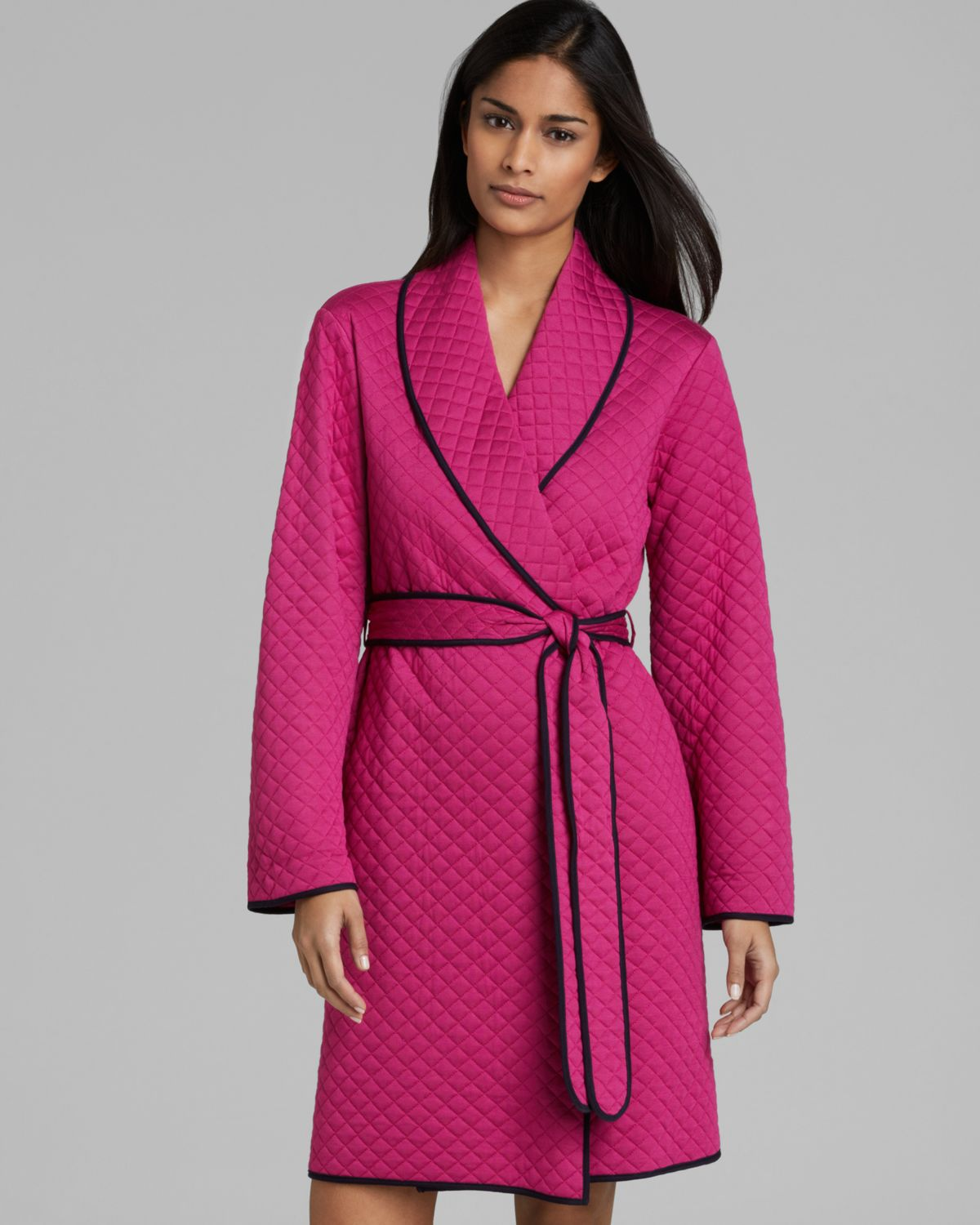 Midnight by carole hochman Quilted Robe in Purple | Lyst : quilted robe - Adamdwight.com