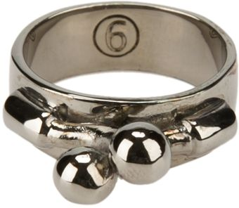 Mm6 By Maison Martin Margiela Clasp Front Ring - Lyst