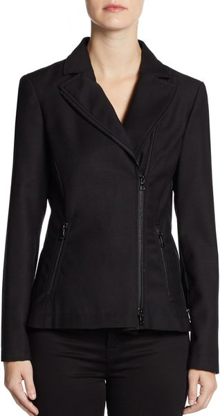 Moschino Cheap & Chic Wool Canvas Zip Jacket - Lyst