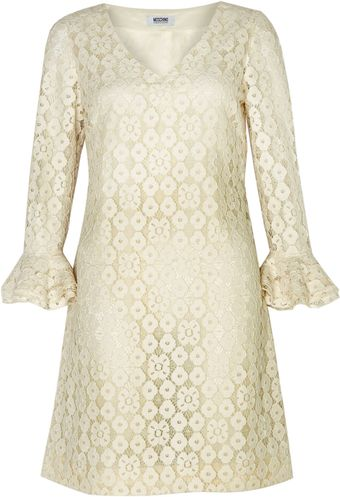 Moschino Cheap & Chic Flare Sleeve Lace Dress - Lyst