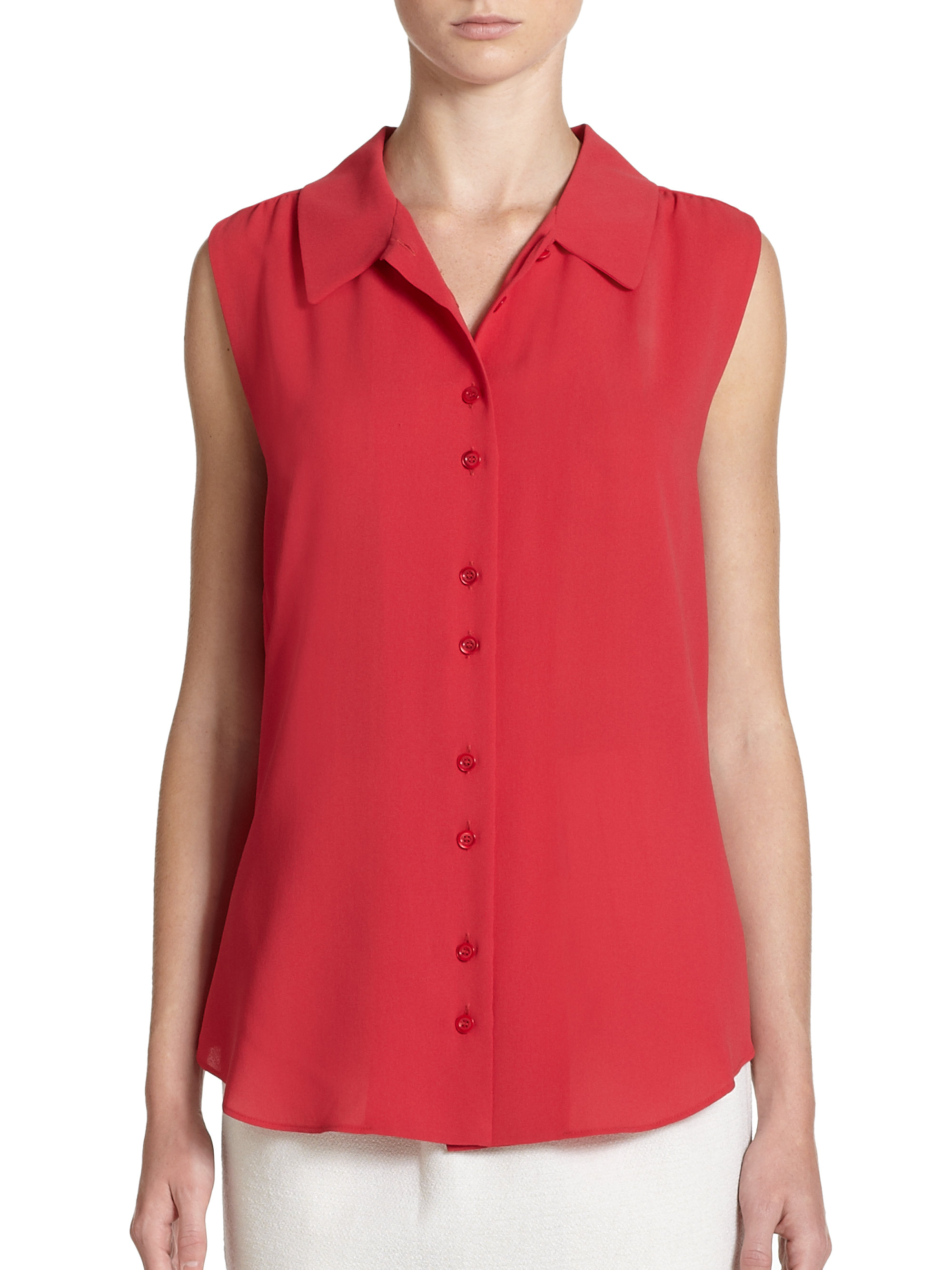 Womens Red Tops And Blouses