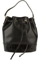 Moschino Logo Bucket Bag - Lyst