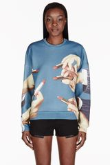 MSGM Teal Lipstick Toilet Paper Edition Sweater - Lyst