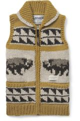 Neighborhood Kanata Chunky Knit Wool Sleeveless Cardigan - Lyst