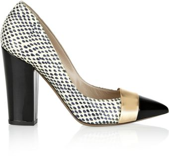Nicholas Kirkwood Watersnake and Leather Pumps - Lyst