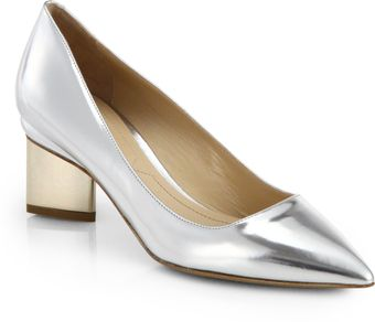 Nicholas Kirkwood Twotone Metallic Leather Pumps - Lyst