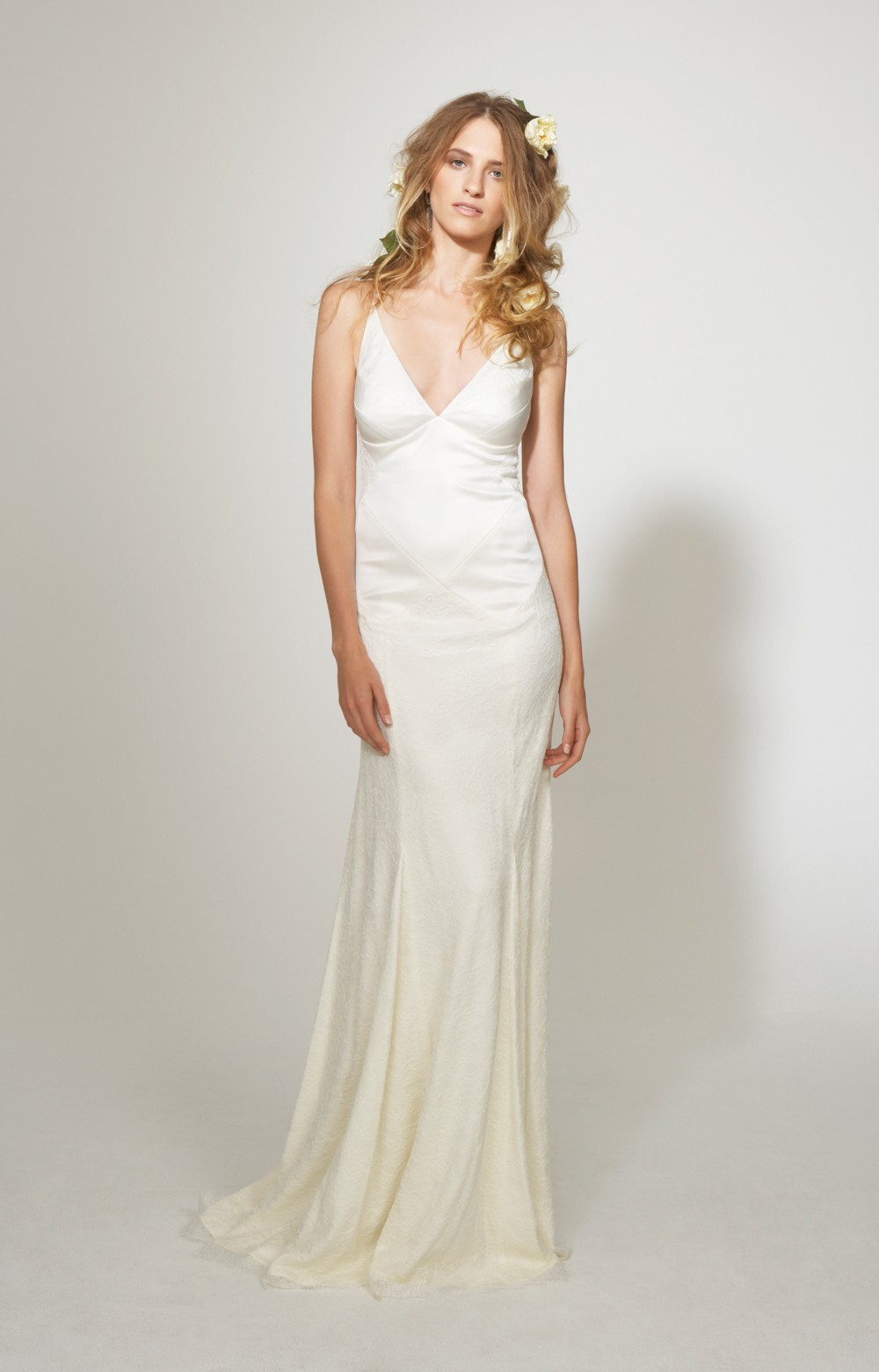 Lyst nicole miller marlena bridal gown in white for Nicole miller dresses wedding