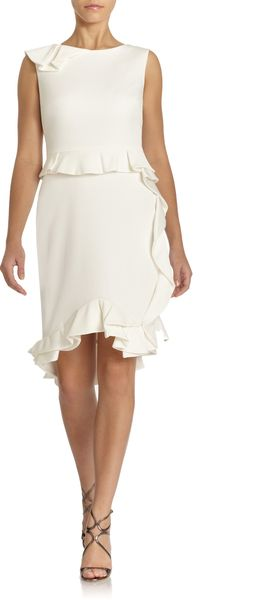 Notte By Marchesa Ruffled Sheath Dress - Lyst