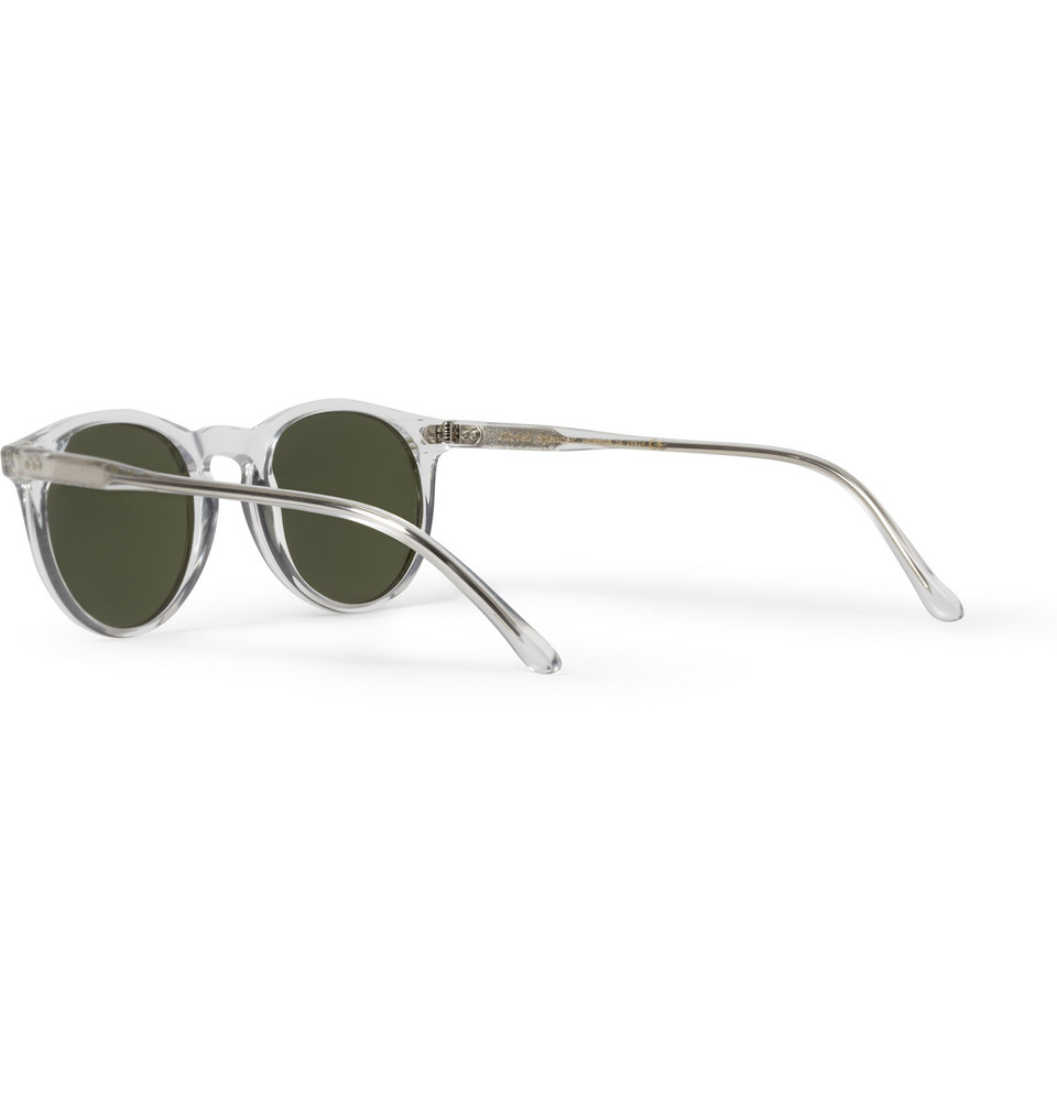 fb361598fe46 Oliver Spencer Sid Roundframe Acetate Sunglasses in White for Men - Lyst