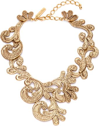 Oscar de la Renta Cast Lace Necklace - Lyst