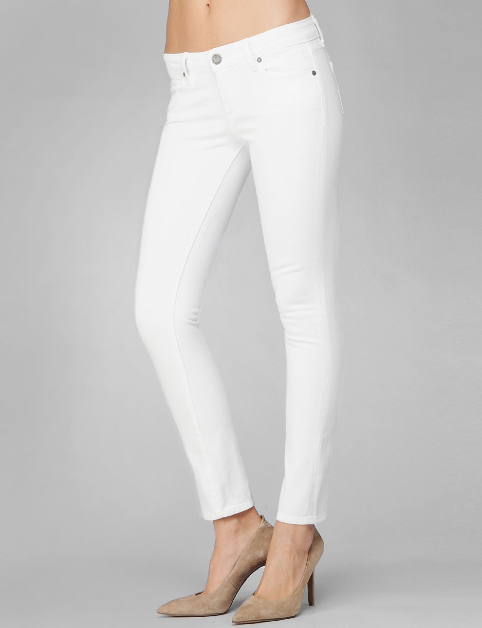 Paige Skyline Ankle Peg Optic White in White | Lyst