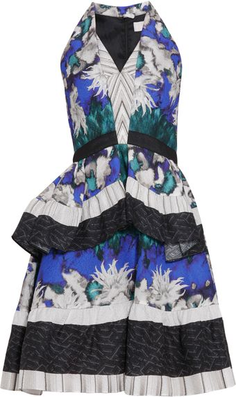Peter Pilotto Lk12 Amanda Print Ruffle Dress - Lyst