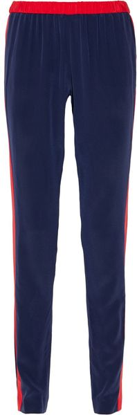 Prabal Gurung Two-tone Silk Track Pants - Lyst
