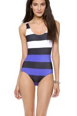 Pret-a-surf Colorblock One Piece Swimsuit - Lyst
