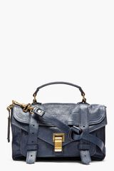 Proenza Schouler Midnight Blue Ps1 Tiny Lux Leather Satchel Bag - Lyst