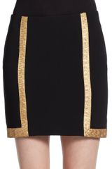 Rag & Bone Hannah Metallic Trim Skirt - Lyst