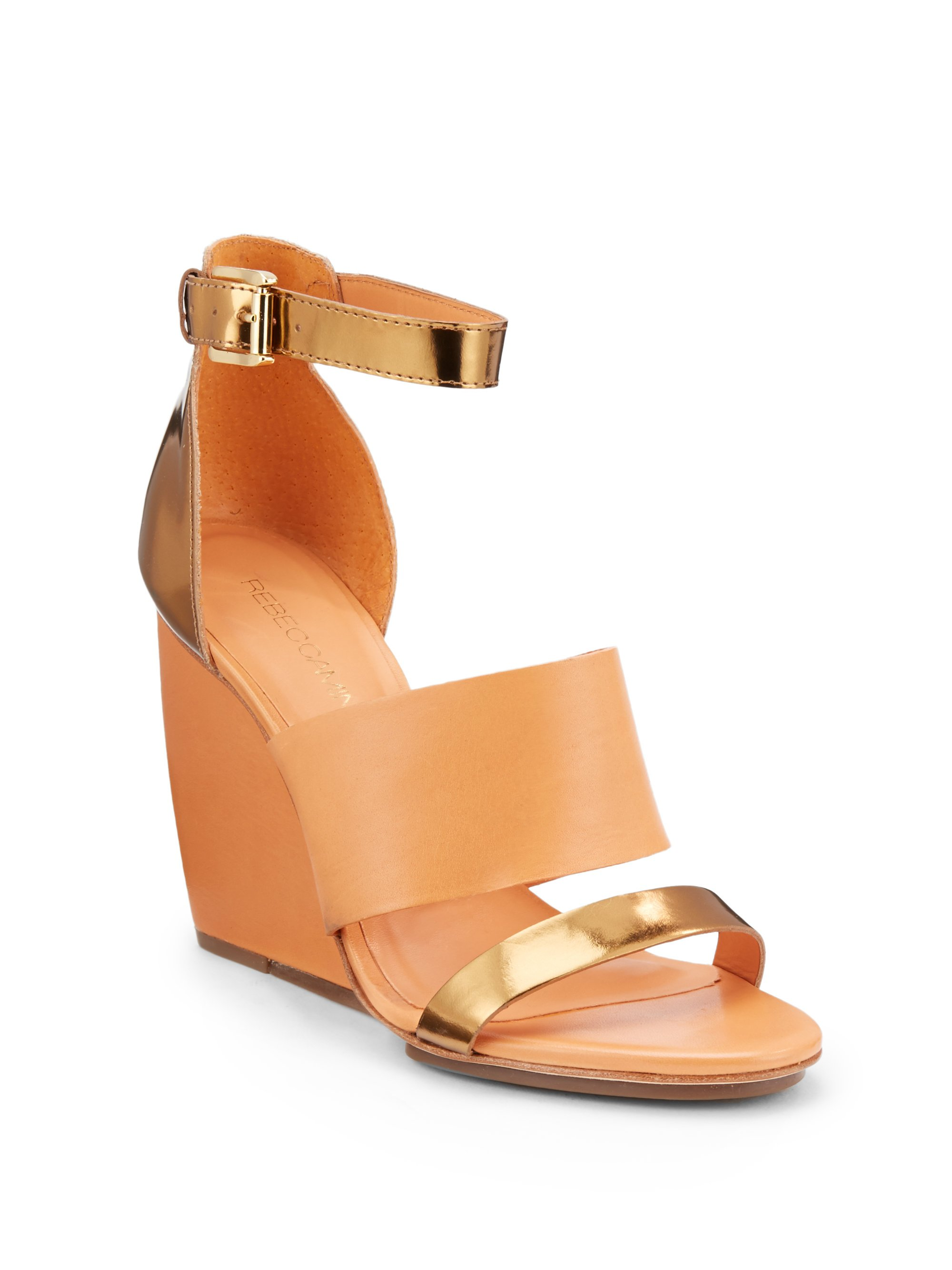 Rebecca Minkoff Leather Laser Cut Wedges cheap sale footlocker pictures nsZa1