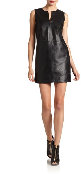 Robert Rodriguez Leather Mini Dress - Lyst