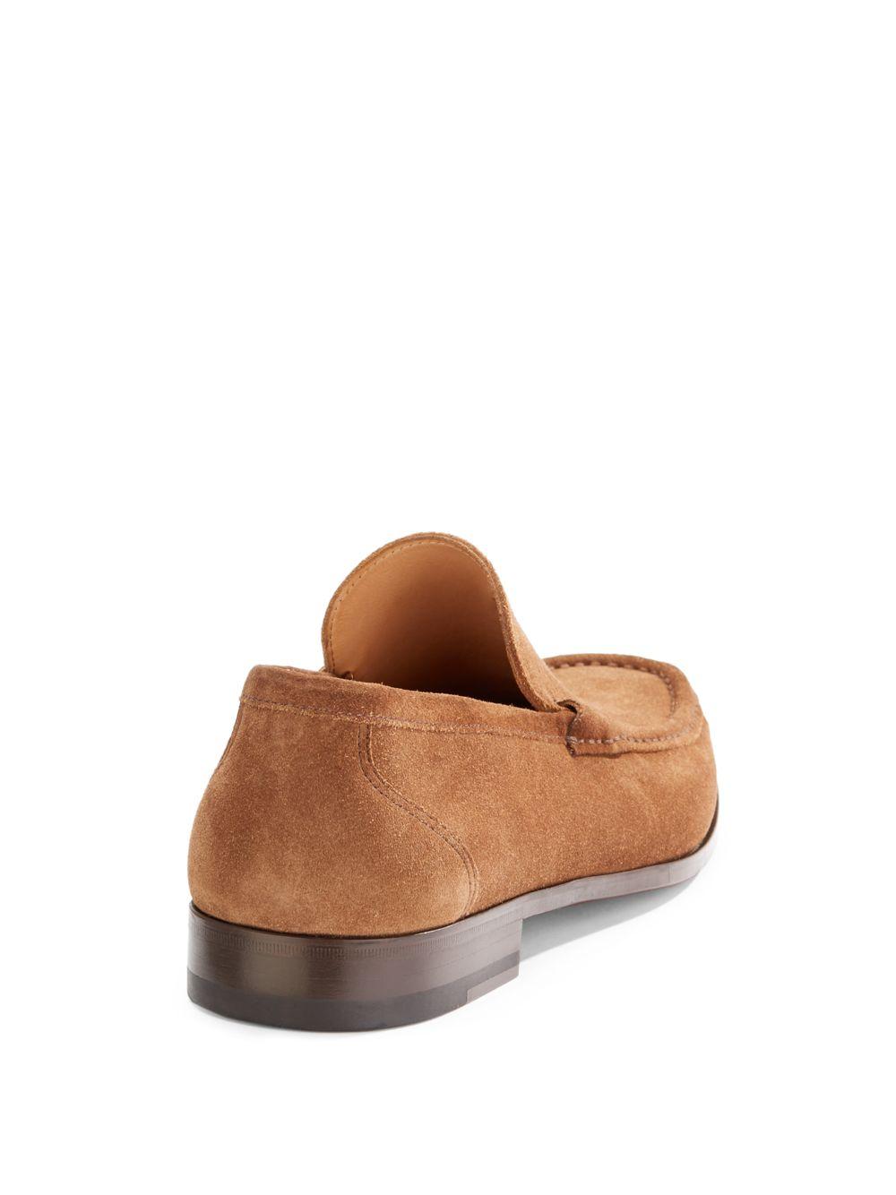 a4eaf187eb1 Lyst - Saks Fifth Avenue Black Label Suede Venetian Loafer in Brown ...