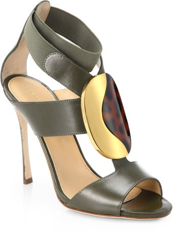 Sergio Rossi Dama Stretchy Leather Sandals - Lyst