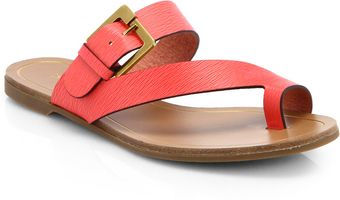 Sergio Rossi Zed Embossed Leather Sandals - Lyst
