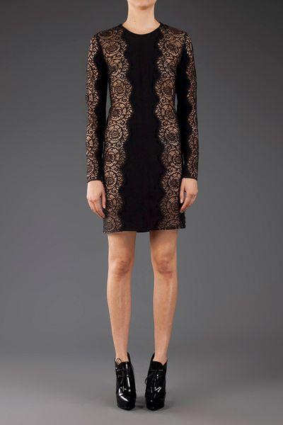 Stella Mccartney Long Sleeve Lace Dress In Black Lyst