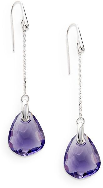 Swarovski Mini Parallele Drop Earrings - Lyst