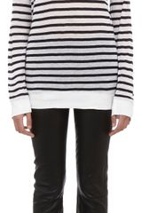 T By Alexander Wang Striped Long Sleeve Tee - Lyst