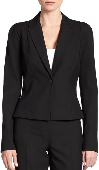 Tahari Tailored One Button Jacket - Lyst