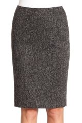 Tahari Tweed Pencil Skirt - Lyst