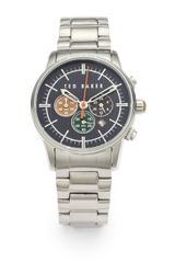 Ted Baker Stainless Steel Chronograph Watch - Lyst