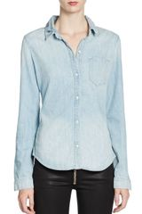 Textile Elizabeth And James Phoenix Chambray Shirt - Lyst