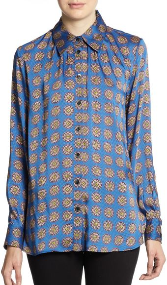 Thakoon Addition Medallion  Printed Button  Front Blouse - Lyst