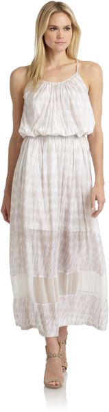 Thakoon Addition Batikprint Sheerpaneled Sundress - Lyst
