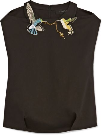 Thakoon Ornithology Collared Top - Lyst