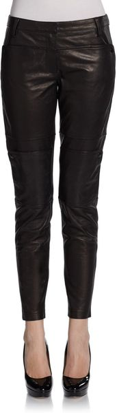 Tibi Paneled Leather Pants - Lyst