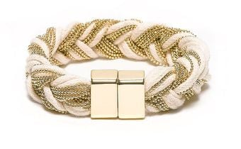 Tommy Hilfiger Chord and Chain Bracelet - Lyst