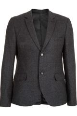 Topman Charcoal Checked Skinny Suit Jacket - Lyst