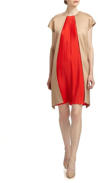 Vionnet Pleated Inset Dress - Lyst