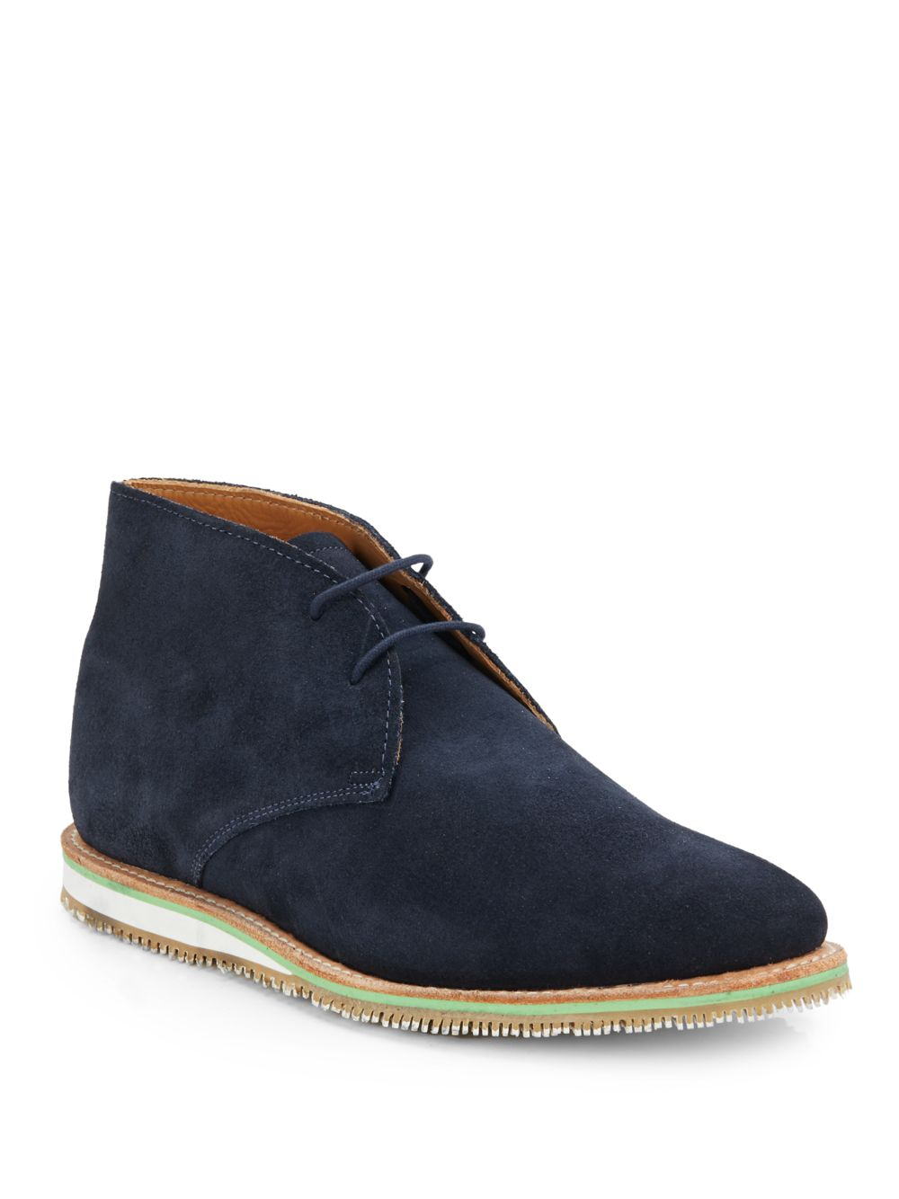 walk nashville suede chukka boots in blue for