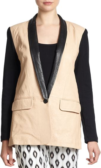 Yigal Azrouel Mixed-media Blazer - Lyst