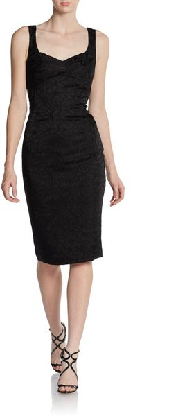 Zac Posen Sleeveless Empire waist Sheath Dress - Lyst
