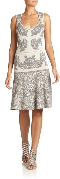 Zac Posen Baroque Jacquard Fit And Flare Dress - Lyst