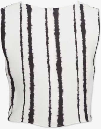 A.L.C. Streak Stripe Print Silk Crop Top - Lyst