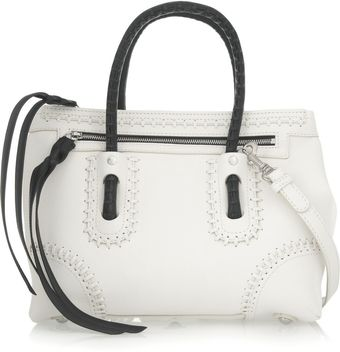 Alexander McQueen Folk Whipstitch Leather Shoulder Bag - Lyst
