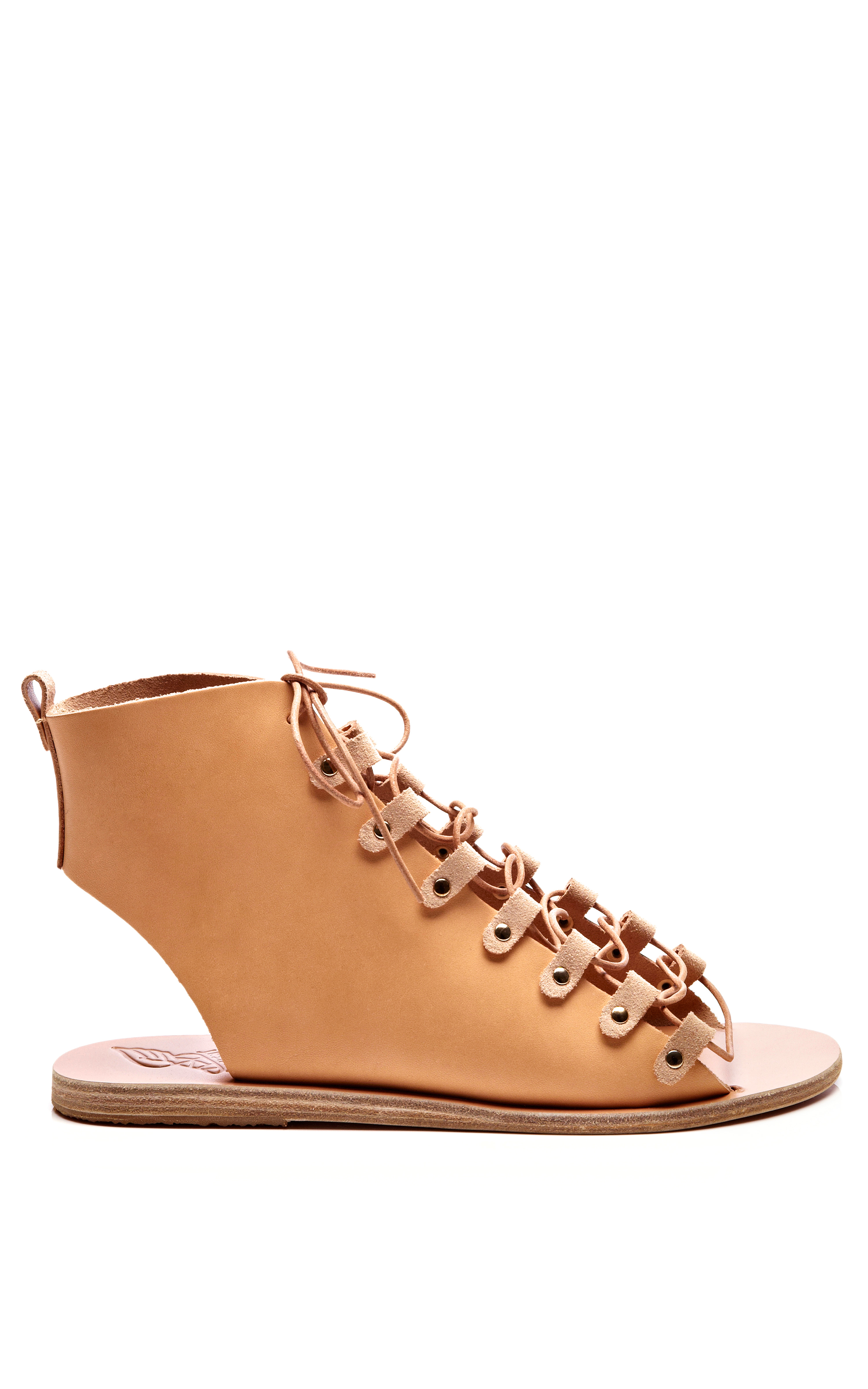 Lyst Ancient Greek Sandals Laceup Leather Gladiator